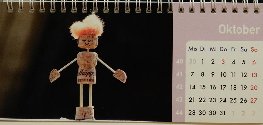 Korkmännchen Kalender 2019 Oktober