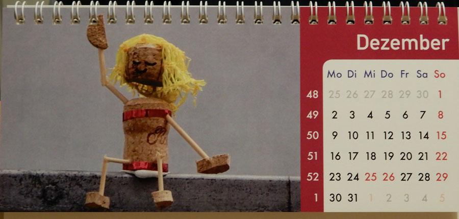 Korkmännchen Kalender 2019 Dezember