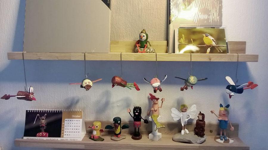 Korkfiguren in Rudkøbing indoor mit Korkmännchen-Kalender 2018
