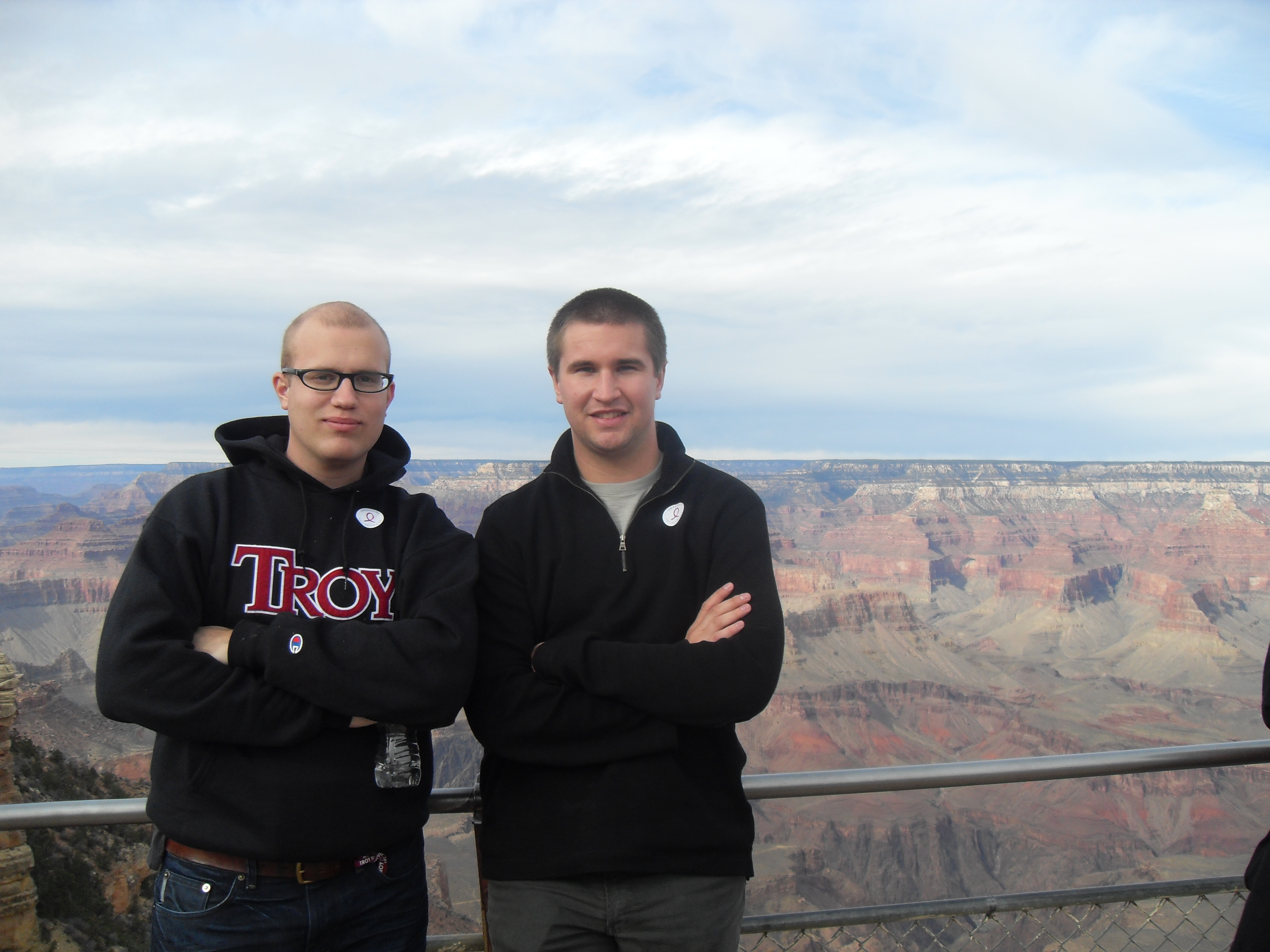 Pete and Korneill at the Grand Canyon