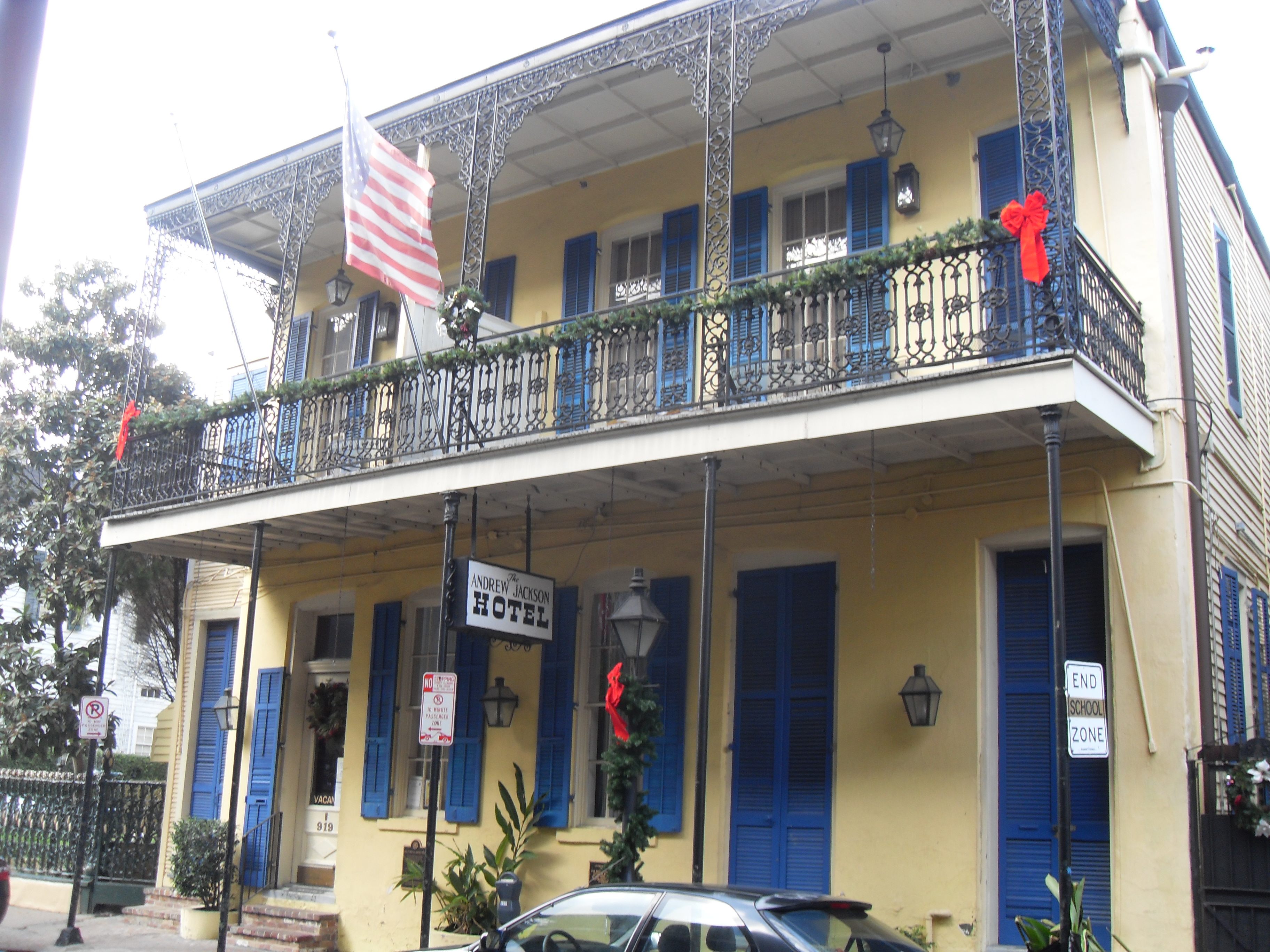 Our romantic hotel in the middle of the French Quarter
