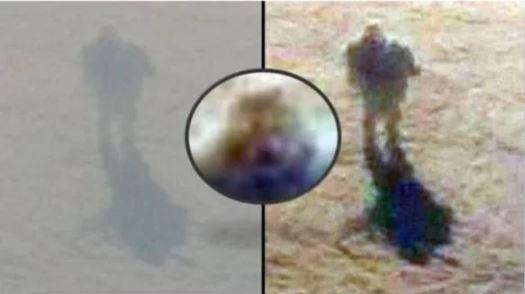 На фото прослеживаются черты человеческого лица.