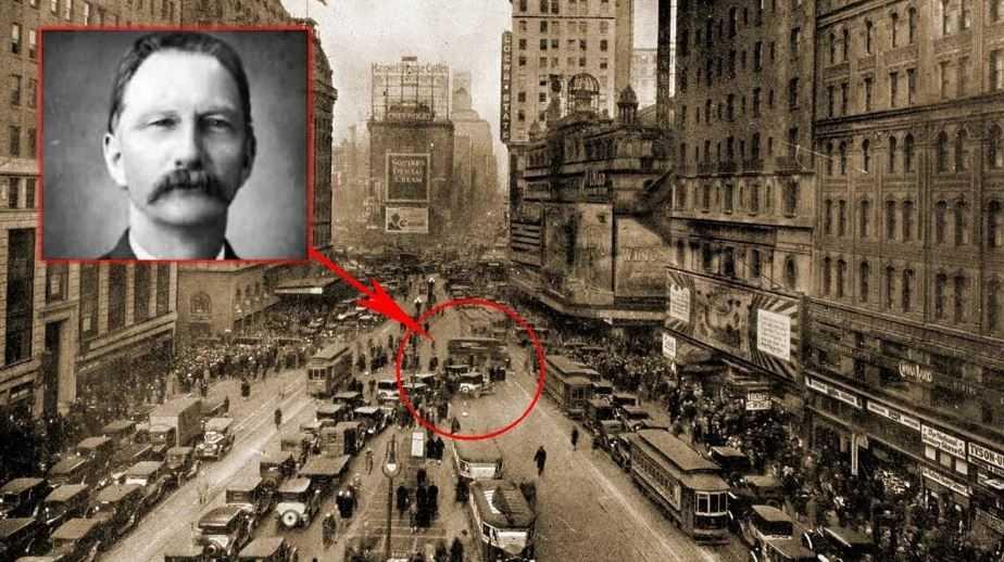 Это путешествие во времени закончилось трагически на перекрестке Таймс-сквер в Нью-Йорке.