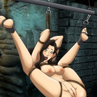 Buxom Asami Sato bound up and prepared for all kinds of dominations and submissions...