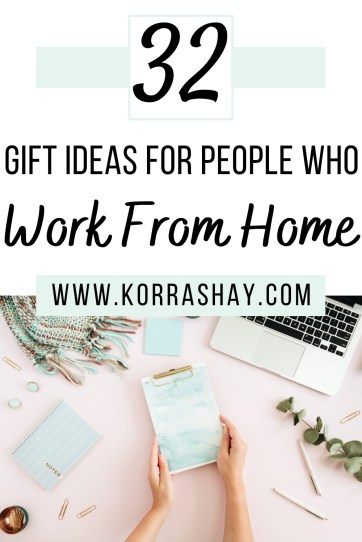 32 gift ideas for people who work from home! Work from home gift ideas.