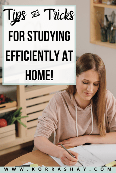 Tips and tricks for studying efficiently at home!