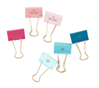 Gift for organized people: productivity binder clips