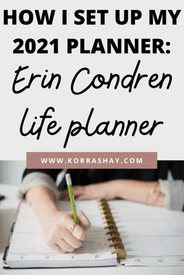 How I Set Up My 2021 Planner: Erin Condren Life Planner
