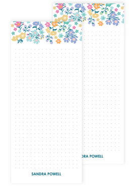 spring time stationery essentials - floral notepad