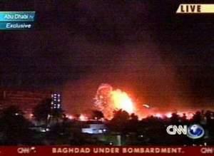 Irak-Krieg 2003: Luftangriff auf Bagdad, CNN-Bericht