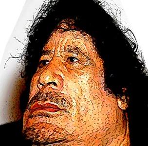 Muammar Gaddafi, Ghaddafi, Khadafi, Karikatur, Cartoon