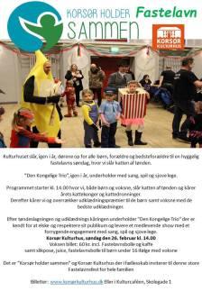 """Stor tak til """"Korsør Holder Sammen"""" for endnu et super godt samarbejde om dette års fastelavnsfest. og til Anette Borg og Den Kongelige Trio for dagens underholdning med alle de glade børn."""