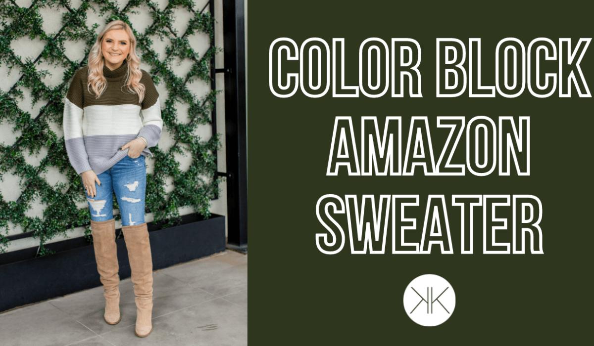 Color Block Amazon Sweater