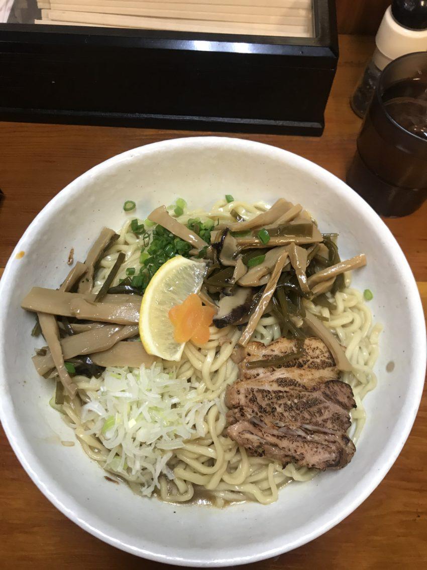 麺食堂 一真亭 - 醤油ばんめん大盛メンマ