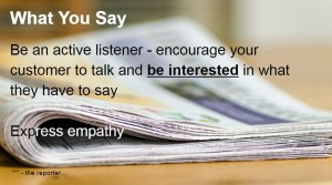 Express Empathy and empathic listening