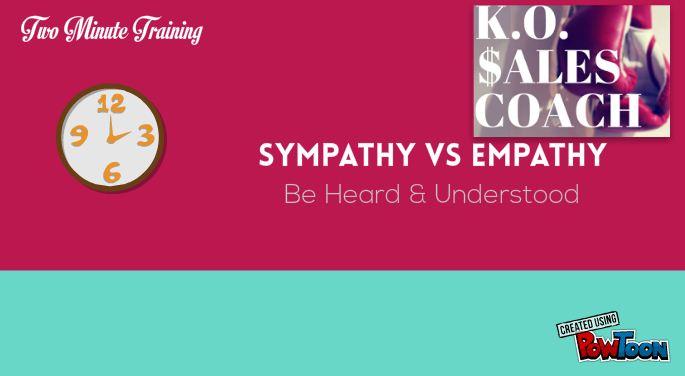 Sympathy vs Empathy