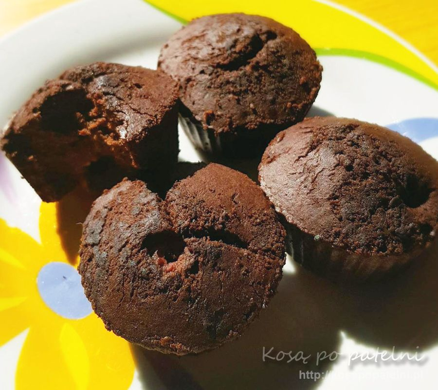 Bezglutenowe muffinki bananowo-kakowe