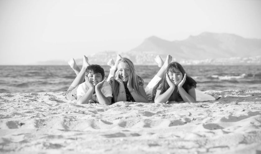 Familie am Strand AS Fotografie
