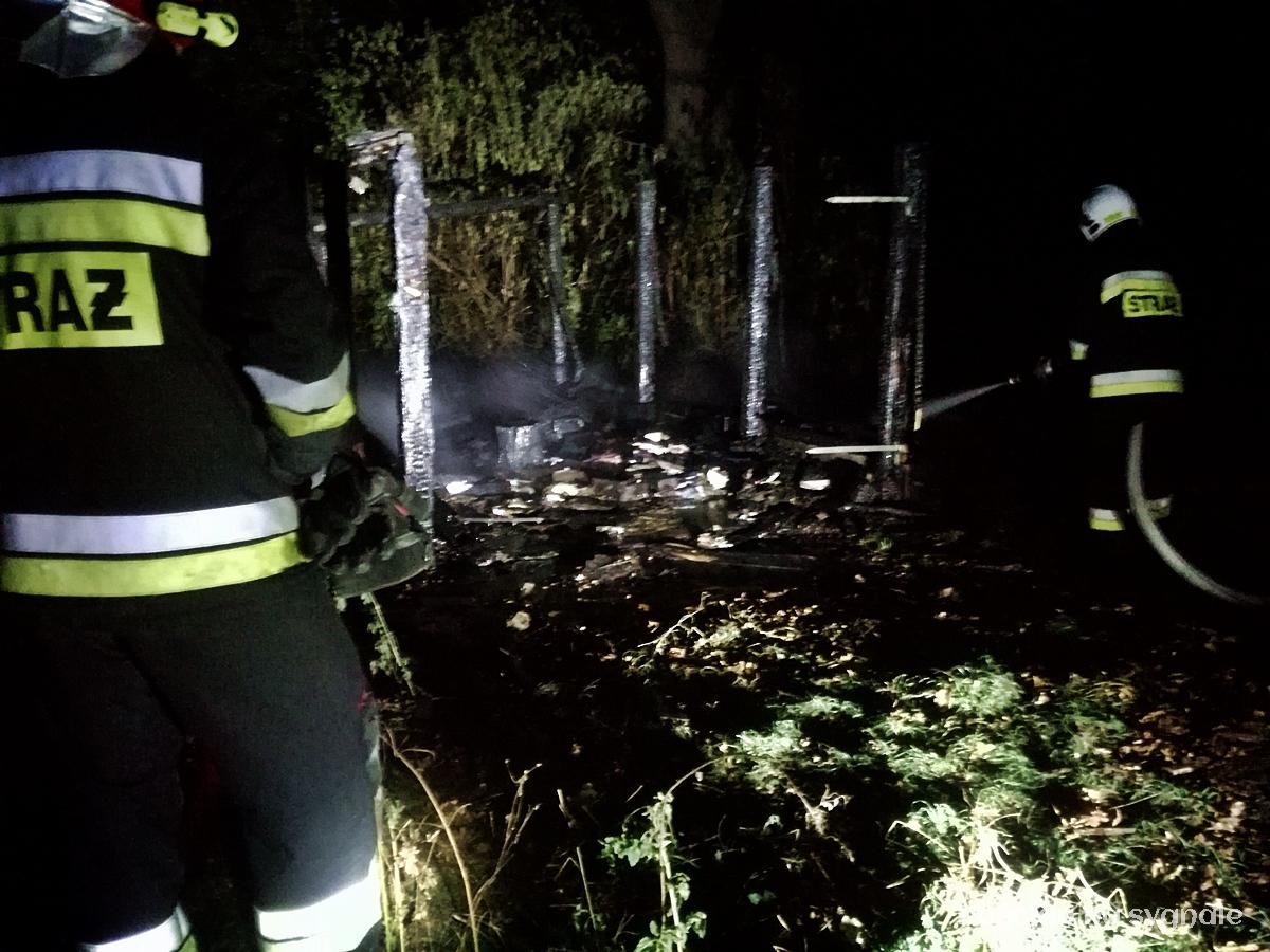 Pożar garażu w Bonikowie. Kolejne podpalenie?