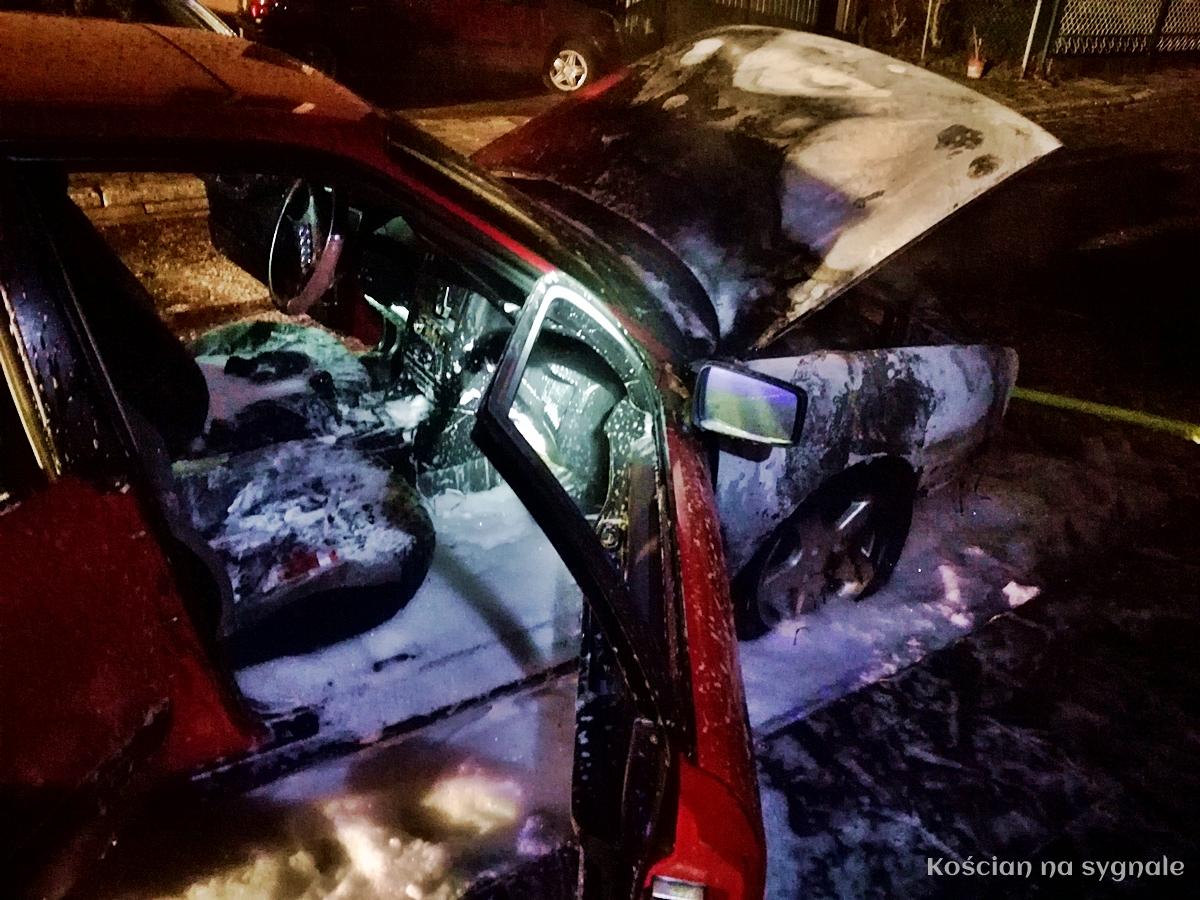 Audi zapaliło się w czasie jazdy