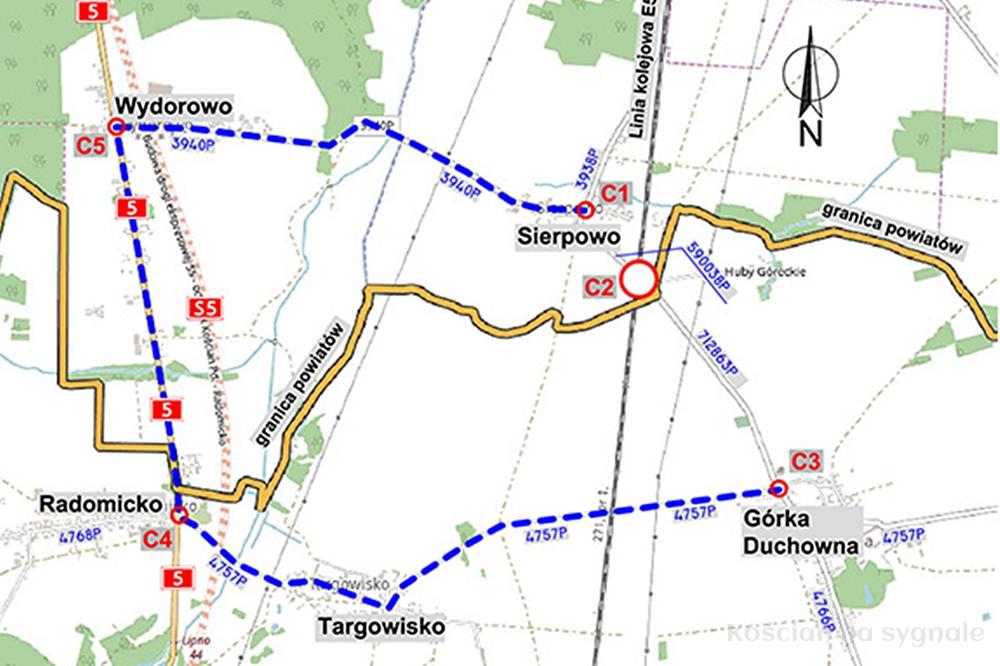 Zamknięcie drogi pod wiaduktem w Sierpowie
