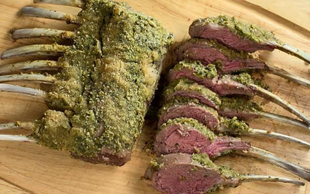 Rack of Lamb With Pesto