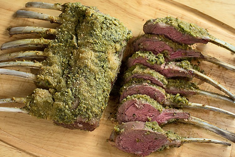 Rack of Lamb With Pesto