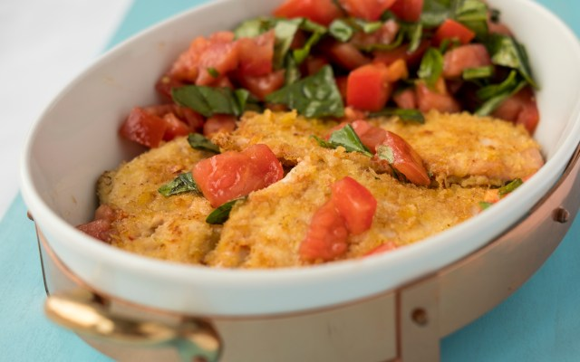 Chicken Cutlets with Tomatoes and Basil