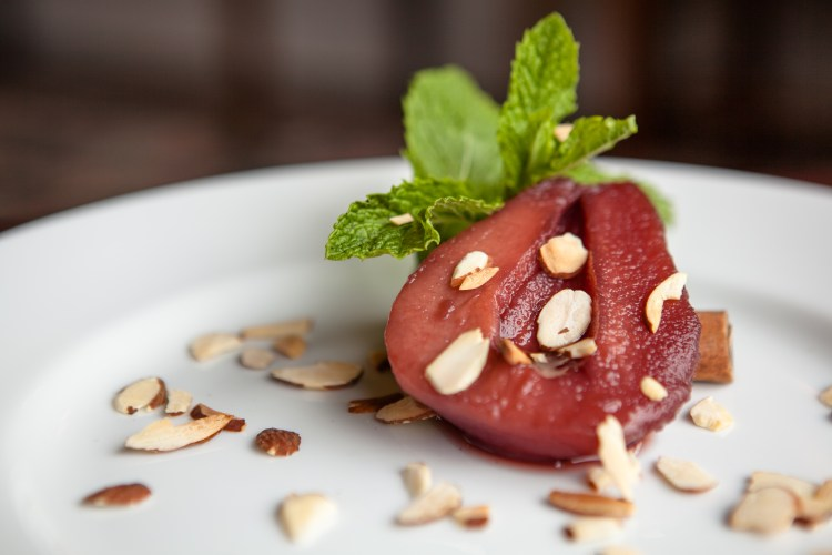 Poached Pears in Red Wine and Cinnamon