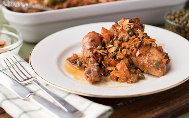 Chicken with Capers and Almonds
