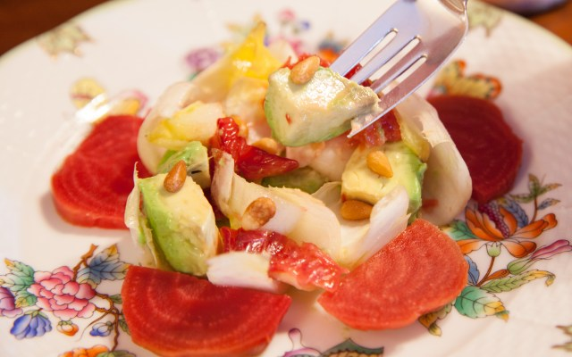 Endive, Blood Orange, Avocado, and Chioggia Beet Salad