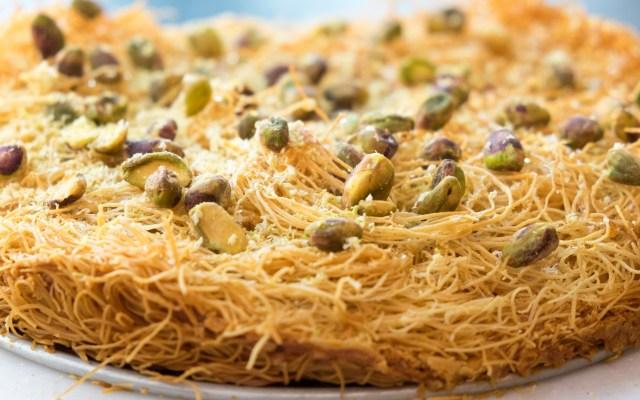 Kadayif with Mozzarella and Lemon