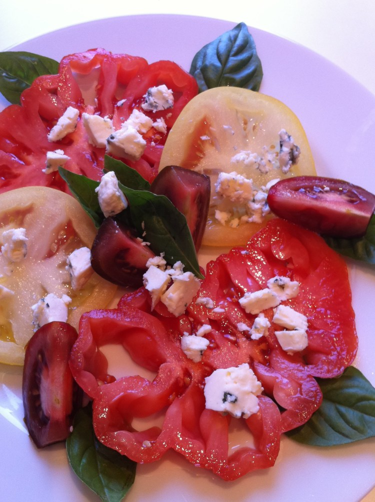 Heirloom Tomato and Bleu Cheese Salad