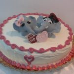 Elephants in Love Cake