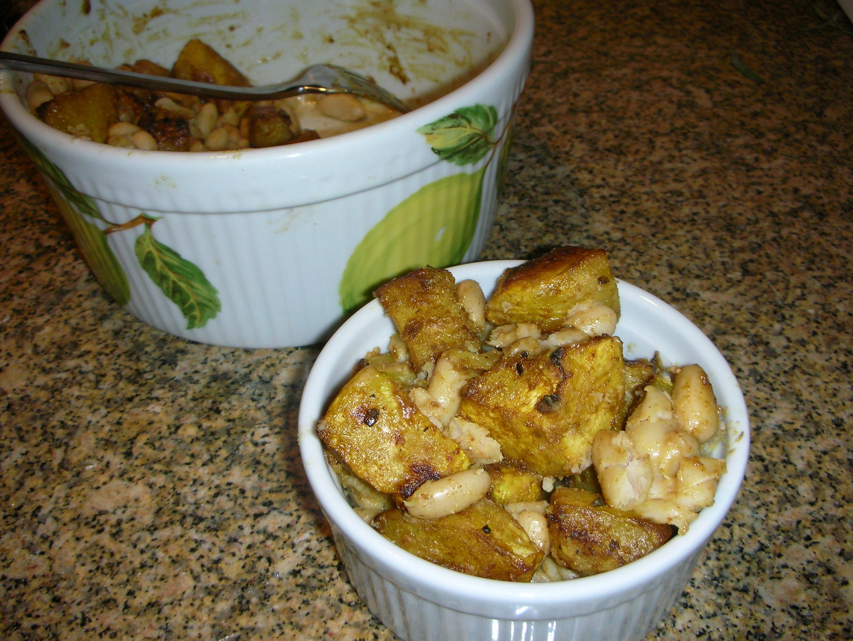 Quick Warm Acorn Squash and White Bean Salad