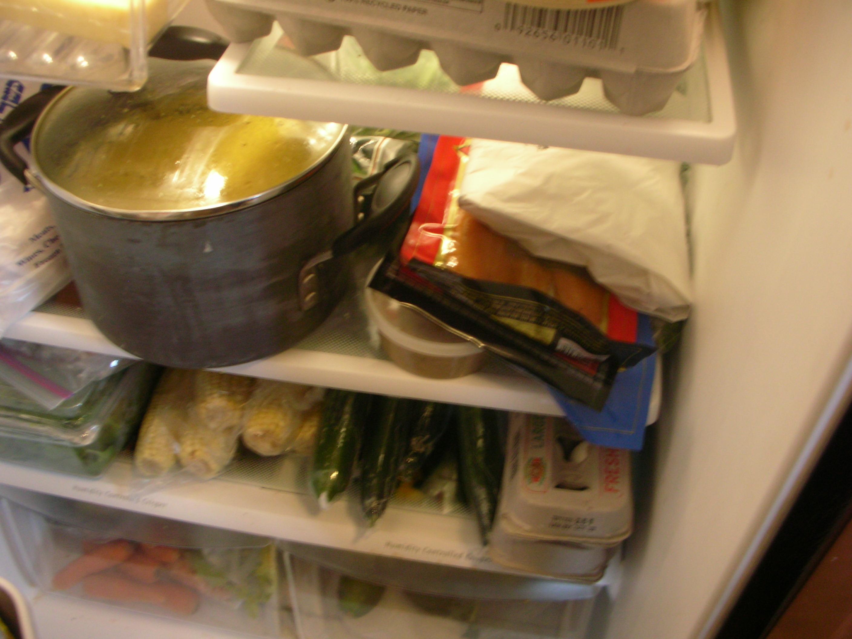 a very full fridge