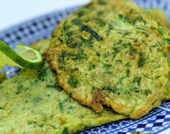 Peruvian Spinach Fritters or Pancakes (Torrejas De Espinaca)