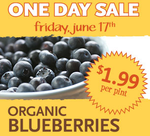 Whole Foods Pint of Organic Blueberries Just 199