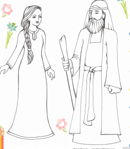10 FREE Shavuot Coloring Pages & Crafts