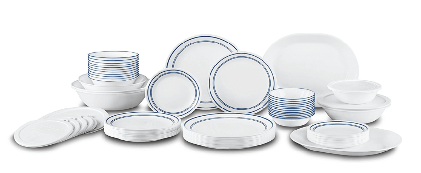 Corelle Square Dinner Plates Only & Square Simple Sketch