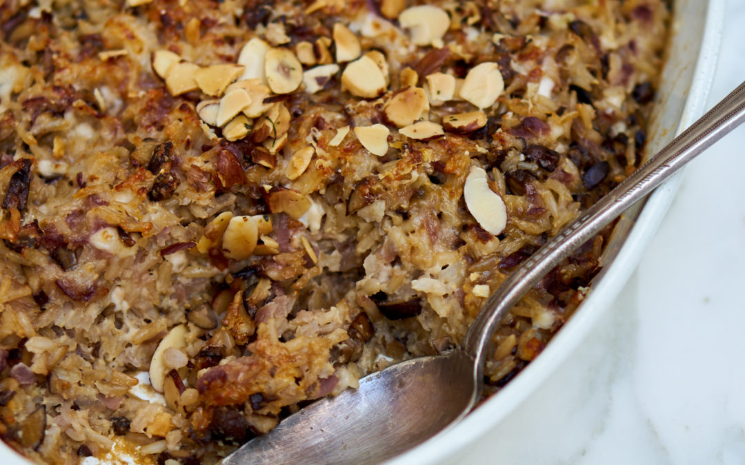 Delicious Kosher Mushroom and Nut Crumble