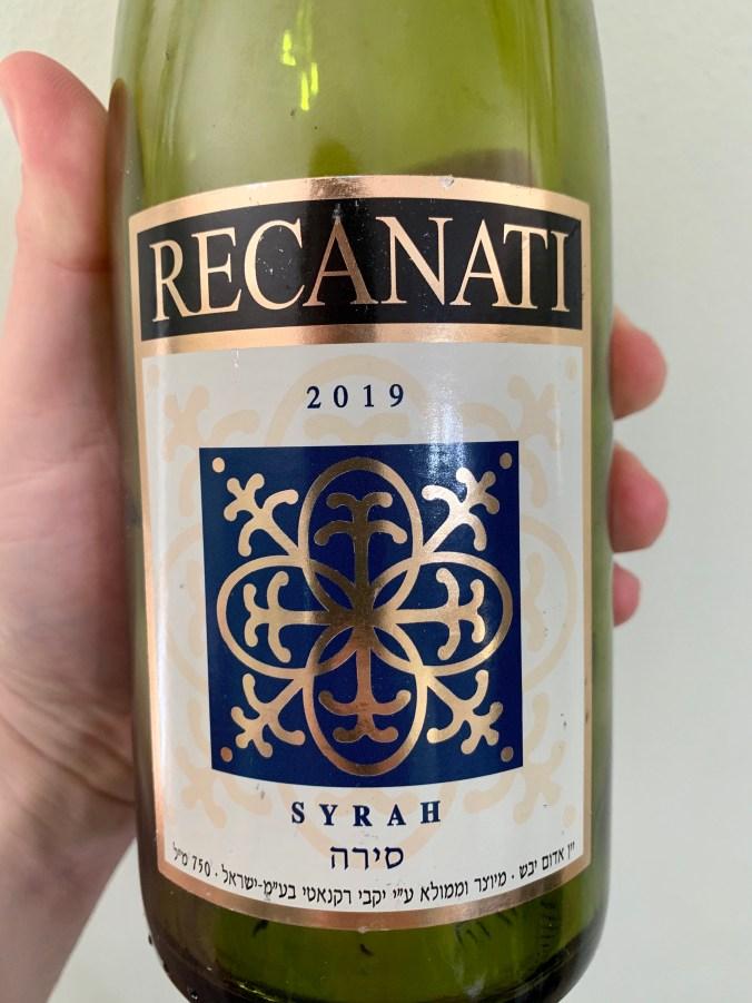 2019 Recanati Syrah