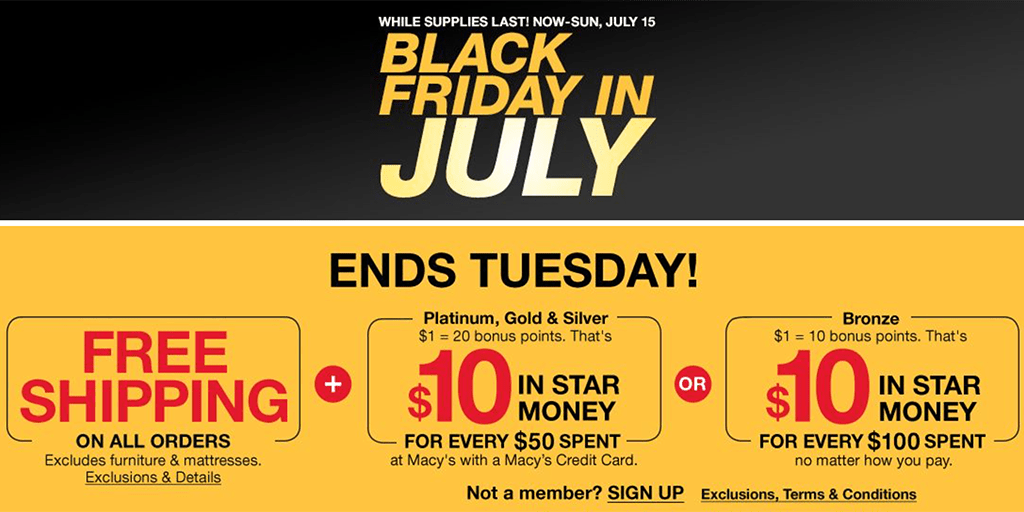 Macy's: Black Friday in July Sale