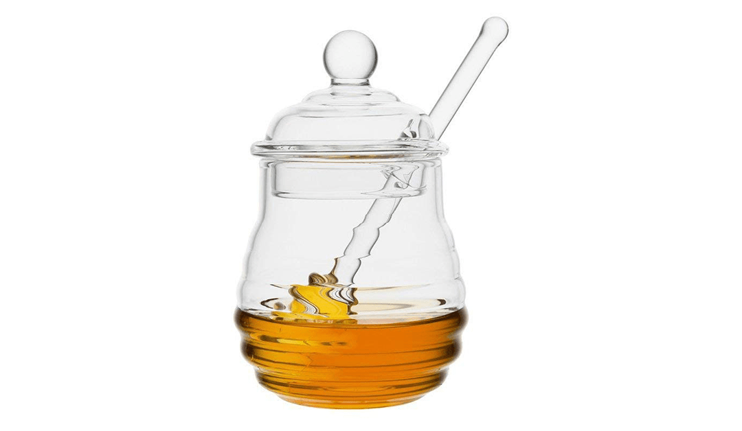 Amazon BEST PRICE: Glass Honey Jar
