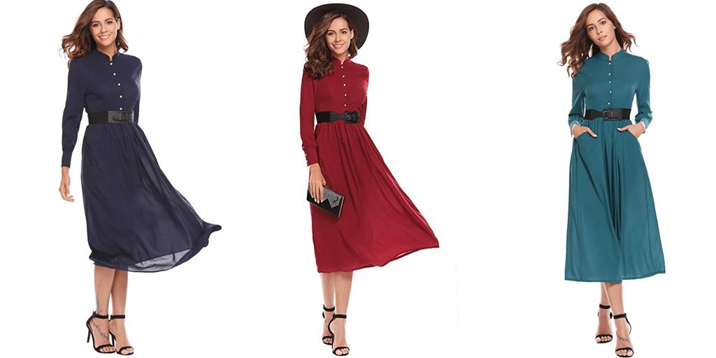 Amazon COUPON: Zeagoo Vintage Maxi Dress
