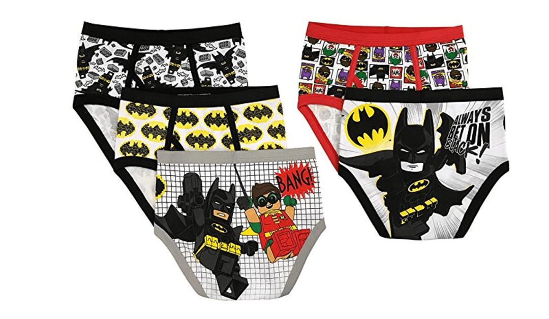 Amazon | BEST PRICE + ADD-ON: LEGO Boys' Batman 5-Pack Brief