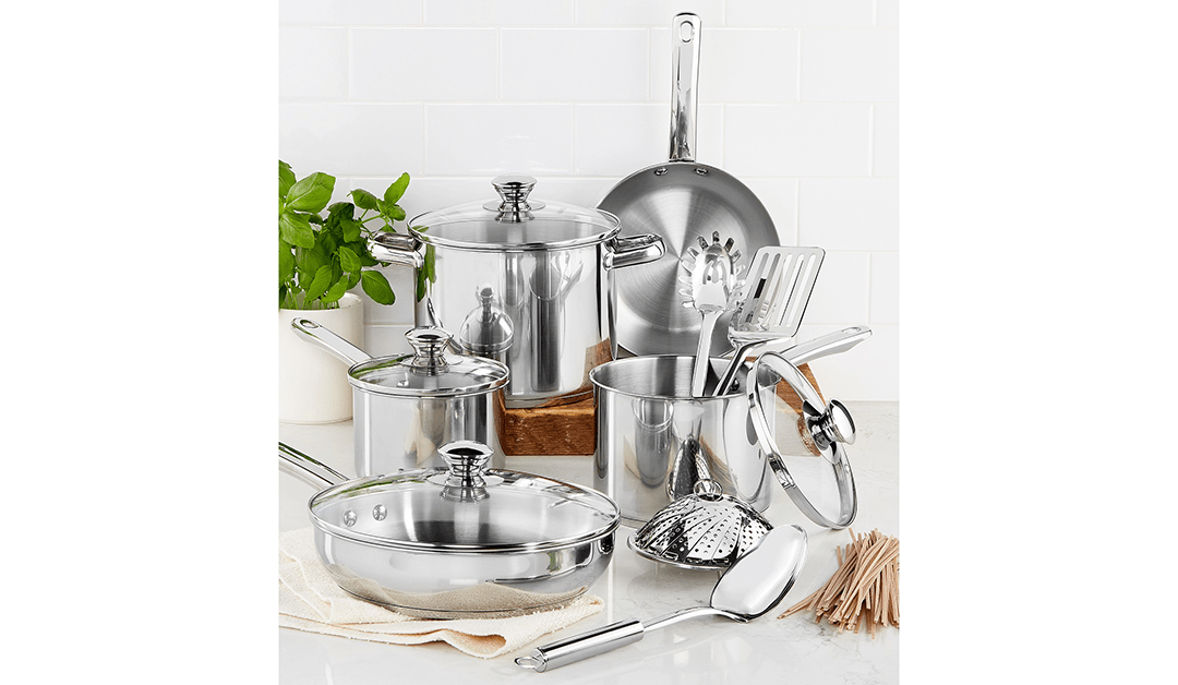 MACY'S | GOOD DEAL: Tools of the Trade 13 Piece Stainless Steel Cookware Set