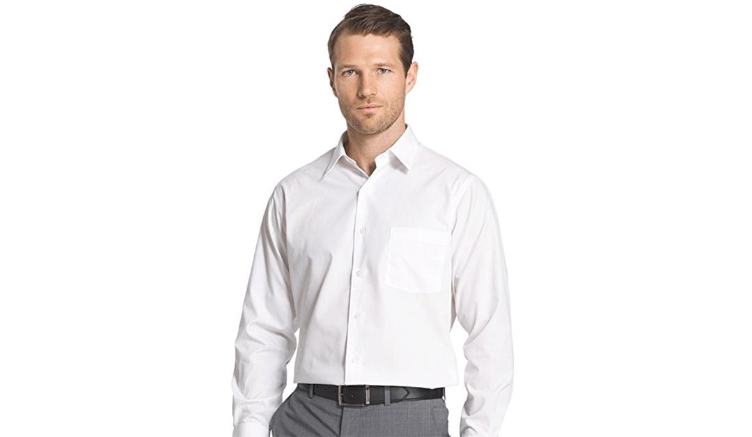 Amazon | BEST PRICE + COUPON: Van Heusen Men's Dress Shirts