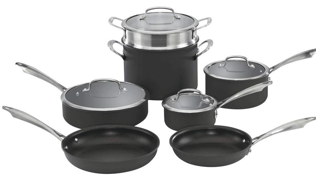 Amazon | BEST PRICE: Cuisinart DSA-11 Dishwasher Safe Hard-Anodized 11-Piece Cookware Set