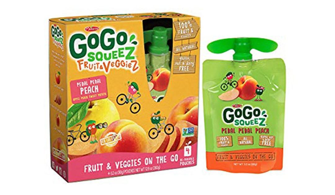 Amazon | BEST PRICE + SUBSCRIBE & SAVE: GoGo SqueeZ Fruit & Veggie Peach